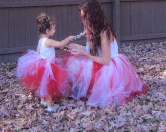 Mother daughter tutu, matching, twins, valentines day, mommy and me, adult tutus, valentine, christmas mommy and me, christmas tutu set