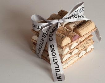 Wine Gift, Wine Cork Crafts, Wedding Favor, Engagement Gift, Bridesmaids,  Decor, Wedding Gift Idea