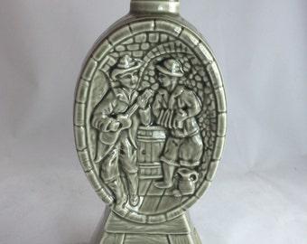 Vintage Jim Beam Barrel Minstrel Regal China Decanter