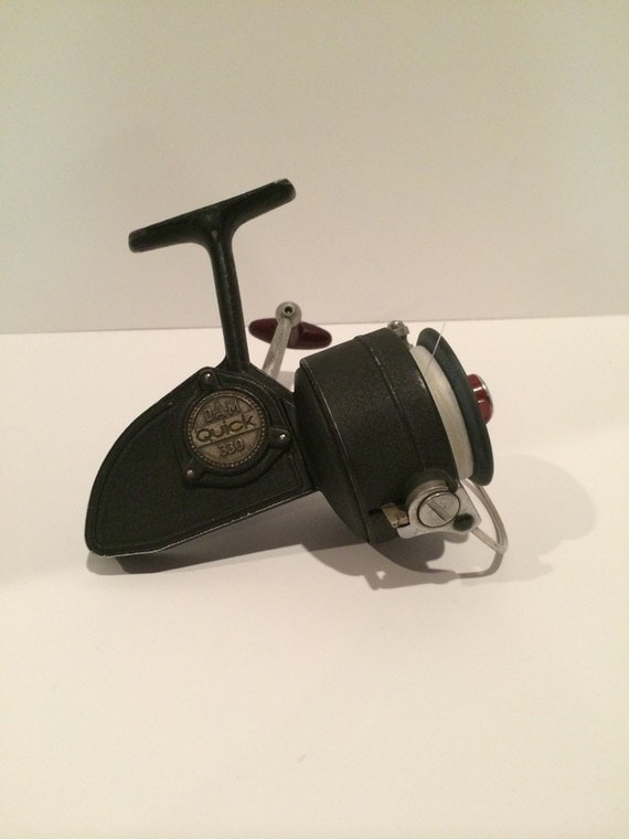 items similar to vintage dam quick 330 fishing reel on etsy. Black Bedroom Furniture Sets. Home Design Ideas