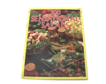 Vintage Salad Recipe Booklet, 1980's 300 Sensational Salads Cookbook, Vintage Recipes