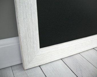 WHITE BARNWOOD Chalkboard MAGNETIC Barn Wood Framed Rustic Large Wedding Sign Kitchen Blackboard Photo Restaurant Menu Chalk Board Markers
