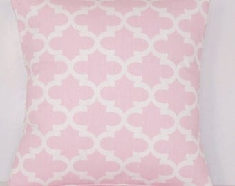 Light Pink Pillow - Pink PILLOW COVER - Euro - Various Sizes - Baby - Nursery - Child - Shower Gift - Lumbar, Moroccan, 20x20,18x18 22x22
