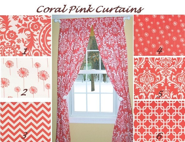 coral kitchen curtains images