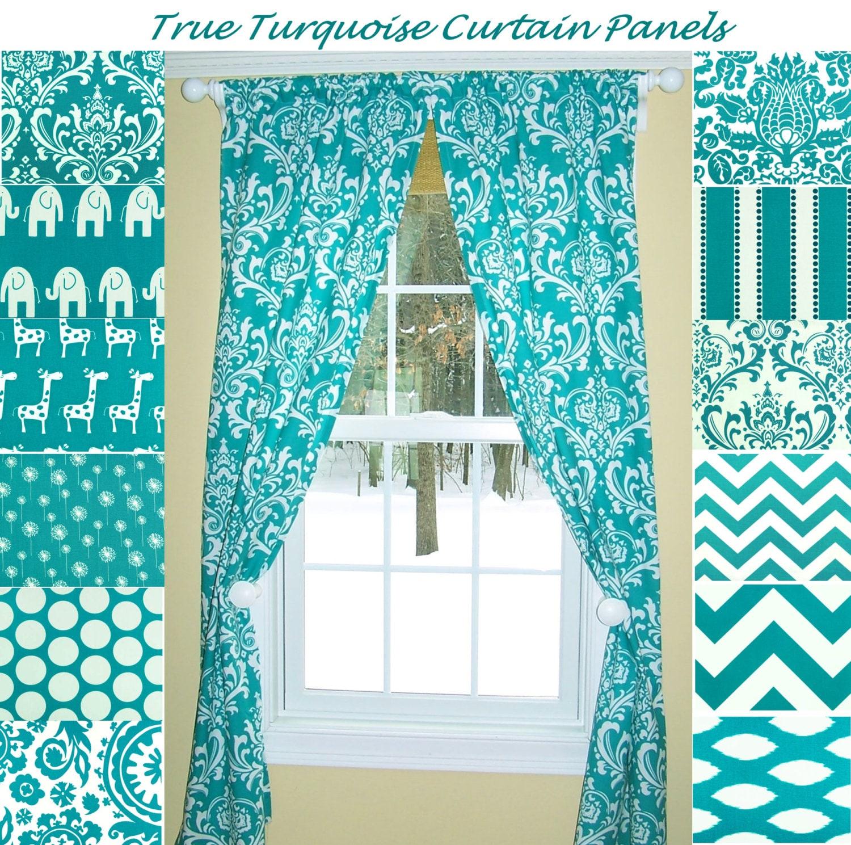 Turquoise Curtainsaqua Curtainsdamask Curtains