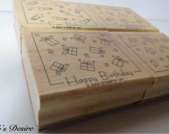 Stampin up set of four 2004 rubber stamps