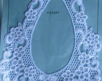 Vintage Lace Collar NOS Lace Collar White Lace Collars Dress Collar Wedding Dress Lace