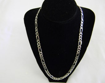 925 Sterling Silver Attractive Figarro Necklace weight DWT 21.1 length 22 inches  #5830