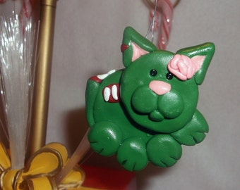 Zombie Kitty Cat Ornament Pendant