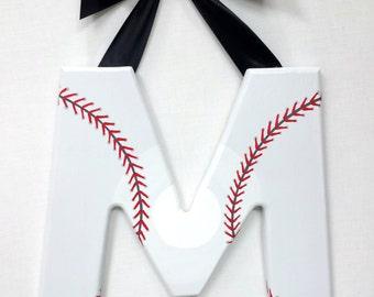 Wood Letter - Baseball