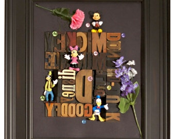 Framed wood type for Children of all ages