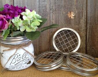 Set Of 4 Frog Lids For Mason Jars, Mason Jar Lids, Flower Lids, Frogs, Floral Supplies, Mason Jar Lids