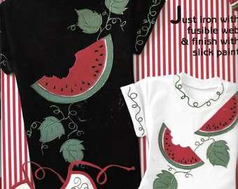 UNCUT New In Package Daisy Kingdom No-Sew Watermelon Fabric Applique for Quilts, Clothing