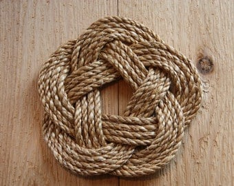 Nautical Round Rope Mat- 4 bights