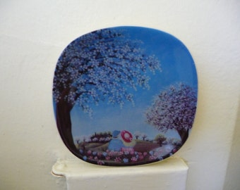 Vintage Arabia Finland Decorative Wall Plate, Anita Rantanen-Siemens Design