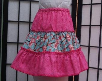 3T 3 Tier Skirt ,Cotton Skirt