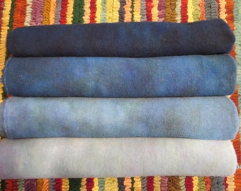 TWILIGHT hand dyed and felted wool for rug hooking and fiber arts projects