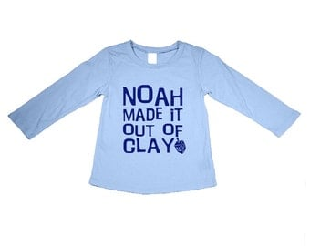 Personalized Hanukkah Shirt Made It Out Of Clay. Driedel. Hanukkah Gift. Perfect for the Holidays. (Baby Bodysuit) also available)