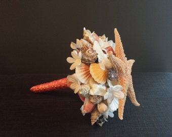 Wedding Bouquet - Seashell Wedding Bouquet with Starfish