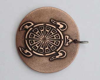Pendant Copper - Turtle (H216)