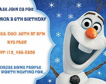 Olaf Printable Birthday Invitation