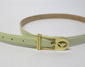 Vintage Leather Liz Claiborne Skinny Belt