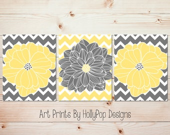 Bedroom wall art etsy for Yellow home decorations