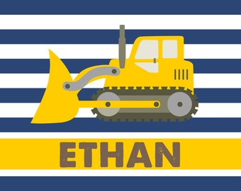 Personalized Placemat - bulldozer