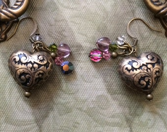 Heart of Brass Earrings