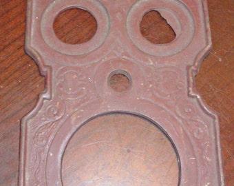 Vintage Ornamental Cast Iron Plate