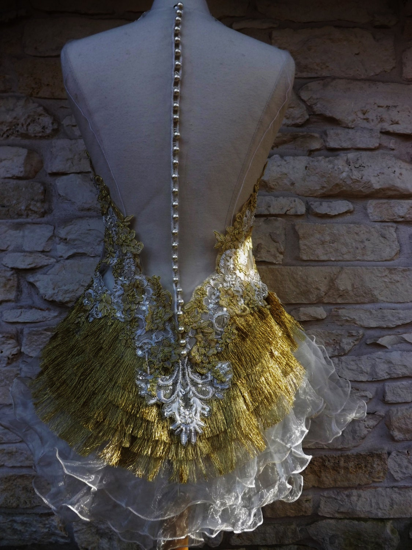 SALE 50 % of GOLDEN BRIDE Victorian Handmade Wedding Dress
