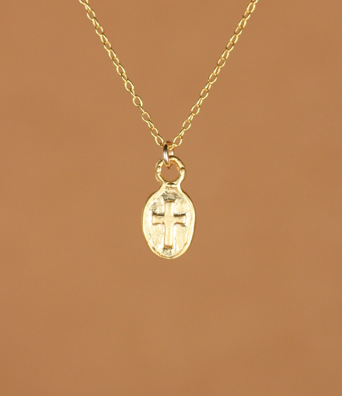 cross necklace religious necklace catholic necklace