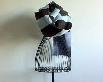 Vintage crochet sarf. Winter schal.Extra Long Winter Scarf.