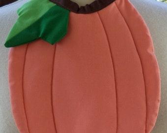 Pumpkin shaped baby bib