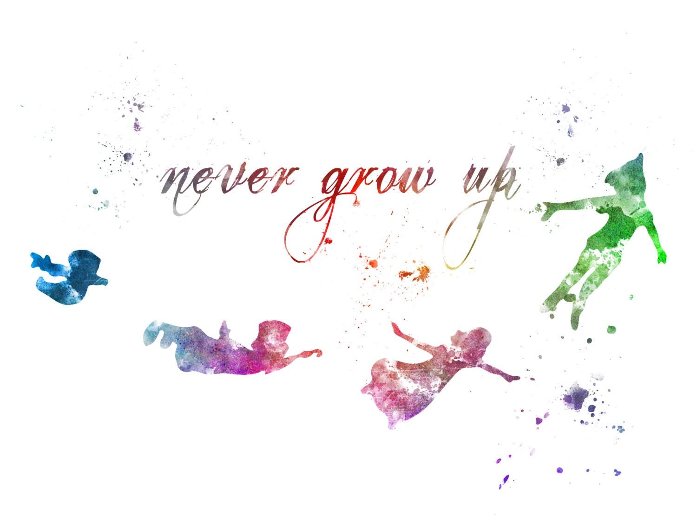 Never Grow Up Peter Pan Wallpaper
