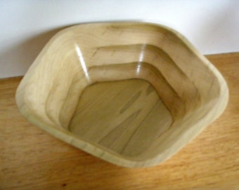 Handcrafted Flared Poplar Bowl