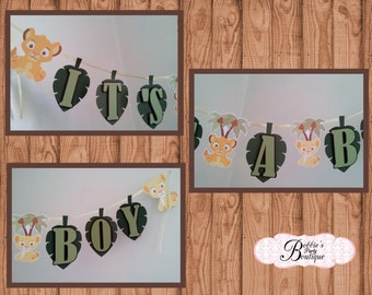 "Lion King Baby Shower, Lion King ""It's a BOY"" Baby Shower Banner, It's a BOY Banner! Lion King Baby Shower Banner, Lion King Banner"