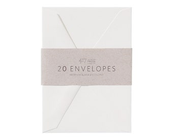 Envelopes - 4Bar -  Savoy Natural White