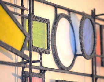 Large 3D Stained Glass Panel, Stained Glass Wall Art, Glass Sculpture, Home  Decor Part 49
