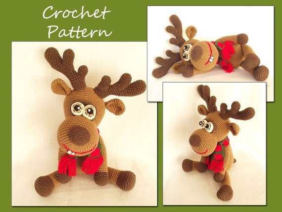 Amigurumi Deer Crochet Pattern, Crochet Deer Pattern, Animal Crochet Pattern, Reindeer, Christmas Deer, CP-134