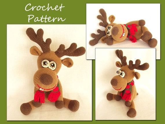 Amigurumi Deer Crochet Pattern, Crochet Deer Pattern, Animal Crochet Pattern, Reindeer, Christmas Deer, CP-134