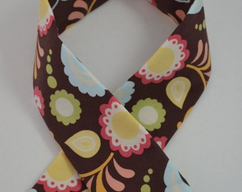 Brown Floral Padded Camera Strap Cover