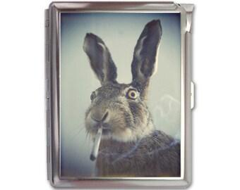 Smoking Rabbit Cigarette Case Lighter Wallet Business Card Holder
