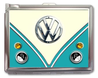 VW Classic Retro Cigarette Case Lighter Wallet Business Card Holder