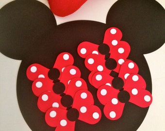 Additional Bows Pin the Bow on the Minnie Game - Minnie Mouse Inspired Game - with RED bows - Birthday Party - Party Game