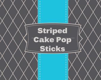 Striped Cake pop stick