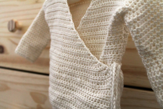 Free Crochet Pattern For Kimono : Baby Kimono Sweater PDF Crochet Pattern NEWBORN Kimono Wrap