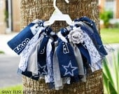 Dallas Cowboys Fabric Scrap Tutu Skirt Outfit