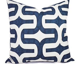 Navy Blue Decorative Pillows - Two Navy Throw Pillow Covers - Navy Embrace Pillow - Navy Accent Pillows - Decorative Pillow