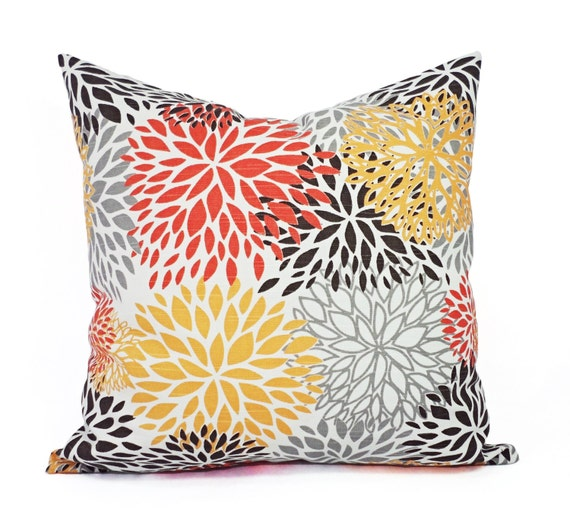 Two Orange And Brown Couch Pillows Orange Throw Pillow Cover